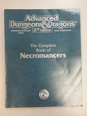 Advanced Dungeons and Dragons 2nd Edition Complete Book of Necromancers