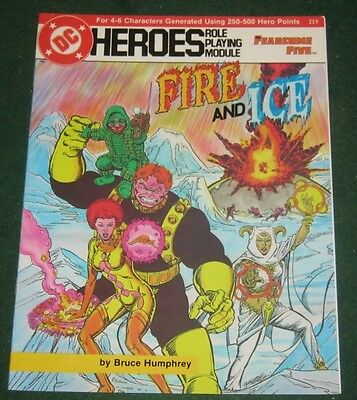 DC HEROES FIRE AND ICE Role Playing Module 215 Fearsome Five Adventure