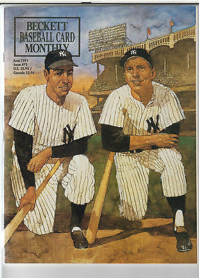 Beckett Baseball Monthly- June 1991, Issue #75: DiMaggio/Mantle/Gehrig/Ruth