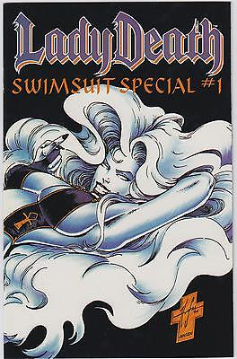 Lot 3: Lady Death Comics- Swimsuit Special #1, Wizard No. 1/2, Heaven & Hell #1