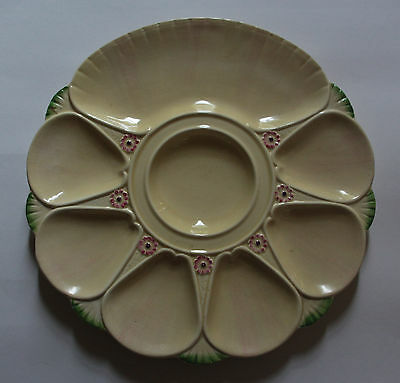 Antique Art Deco era, Minton Majolica Hand Painted Oyster Plate / collectible