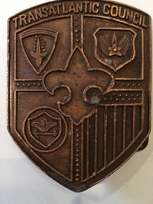 Transatlantic Council Old Bronze Belt Buckle