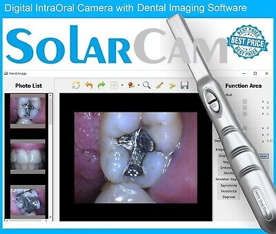 2017 SolarCam 4MP DIGITAL INTRAORAL INTRA ORAL DENTAL CAMERA USB PC 32/64bit