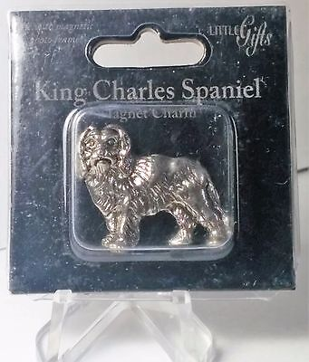 "Little Gifts King Charles Spaniel Dog Charm Magnet  1"" Miniature"