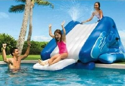 Water Slide for Backyard Pool Inflatable Swimming Splash Play Activity Center