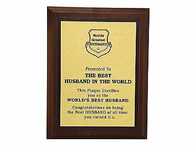 Aahs Engraving Worlds Greatest Plaques (Best Husband In The Word)