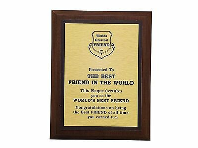 Aahs Engraving Worlds Greatest Plaques (Best Friend In The World)