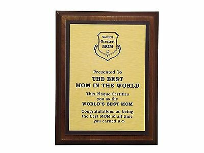 Aahs Engraving Worlds Greatest Plaques (Best Mom In The World)