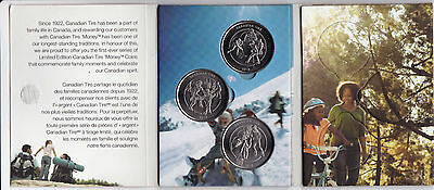 Canadian Tire Mint 3-coin set with folder