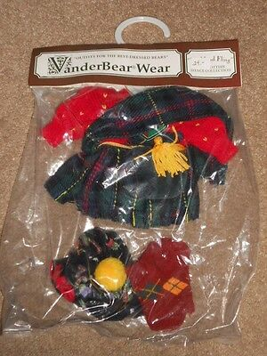 """The Muffy Collection Vanderbear Wear """"Highland Fling"""" Scottish Dance Outfit NIP"""