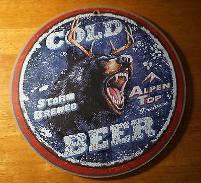 COLD BEER BLACK BEAR Brewery Hunter Lodge Hunting Cabin Home Decor Bar SIGN NEW