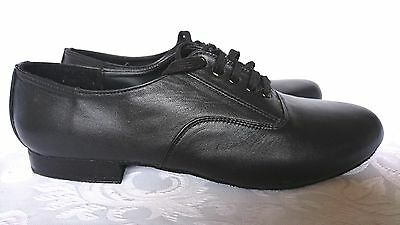 New Paul Wright, Leather, Ballroom, Tango, Black, Dance Shoes, Size 3.5