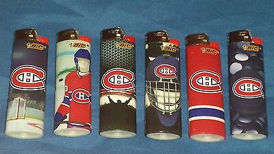 Montreal Canadians Bic lighter lot NEW x6 different NHL Hockey Habs free shpping