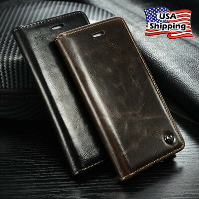 Apple iPhone 6 / 6s Plus Luxury Leather Wallet Card Holder Flip Case Cover