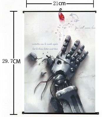 Hot Japan Anime Cosplay Fullmetal Alchemist Wall Scroll Art Poster Home Decor 03