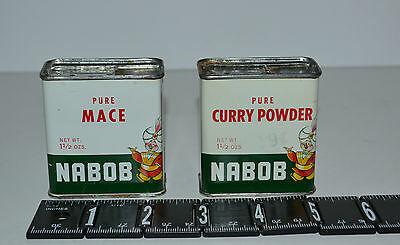 Two Vtg Spices Tins - Nabob - Canada