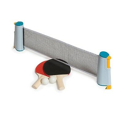 Instant Table Tennis Ping Pong attach to table travel set with net bats & balls