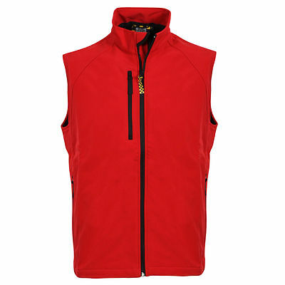 NEW 2016 WOMENS Golf SOFTSHELL RED GILET -SIZE L 36 - 38