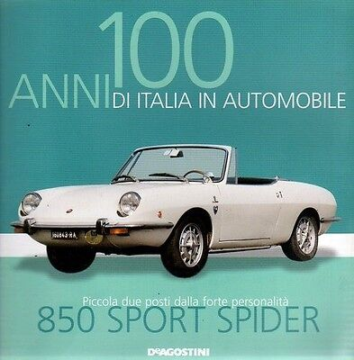 FIAT 850 SPORT SPIDER rare booklet 30 PAGES