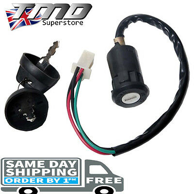 Motorcycle Ignition Barrel Key Switch 4 wire Universal Quad On/Off Car Motorbike