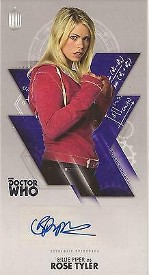 "Doctor Who Widevision - Billie Piper ""Rose Tyler"" Autograph Card"