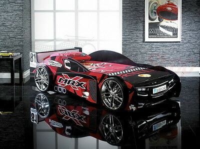 Sale Exclusive Childrens Bed Racing Car in Black or Red Brand New 3ft Single