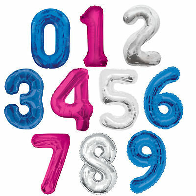 "Large Numeral 34"" Balloons - Choose From 3 Colours - Foil Jumbo Birthday Age"