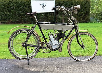 Terrot 1910 Motorette No2 264cc 1 cyl aiv out of belgian museum collection