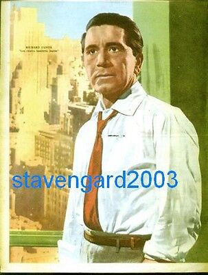 RICHARD CONTE Poster Argentina 1960's