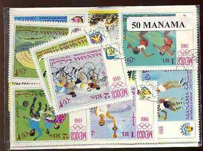 Manama 50 timbres différents