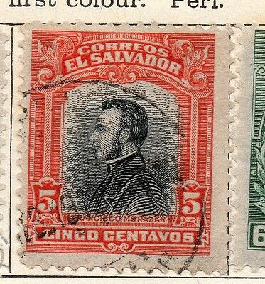 Salvador 1912 Early Issue Fine Used 5c. 126160