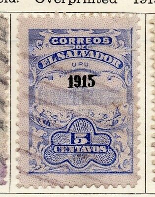 Salvador 1915 Early Issue Fine Used 5c. Optd 126171