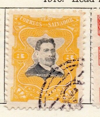 Salvador 1910 Early Issue Fine Used 3c. 126186
