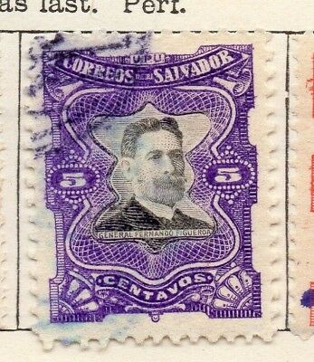 Salvador 1910 Early Issue Fine Used 5c. 126188