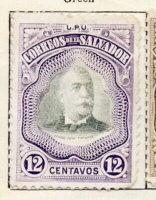 Salvador 1906 Early Issue Fine Mint Hinged 12c. 126207