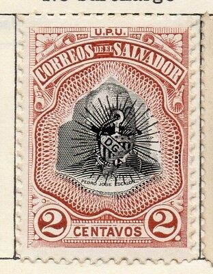 Salvador 1906 Early Issue Fine Mint Hinged 2c. 126213