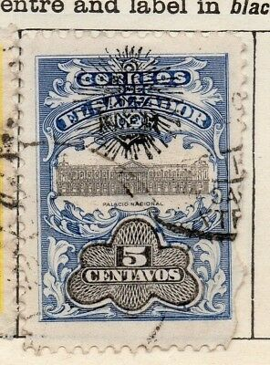 Salvador 1907 Early Issue Fine Used 5c. Optd 126219