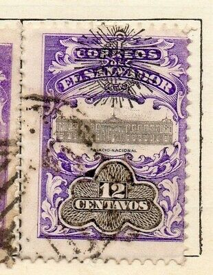 Salvador 1907 Early Issue Fine Used 12c. Optd 126221