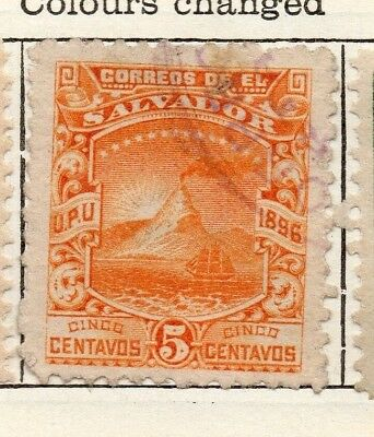 Salvador 1897 Early Issue Fine Used 5c. 126259