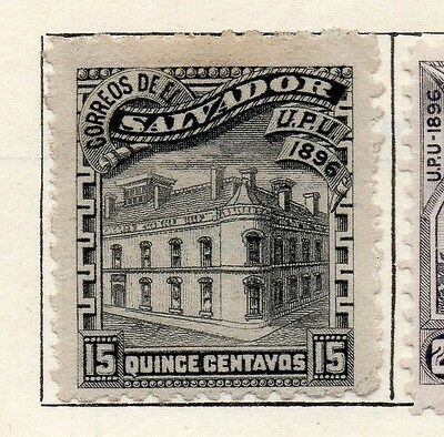 Salvador 1897 Early Issue Fine Mint Hinged 15c. 126262
