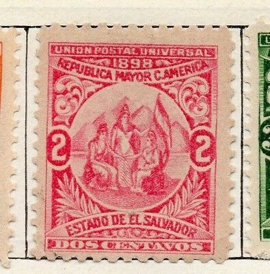 Salvador 1898 Early Issue Fine Mint Hinged 2c. 126267