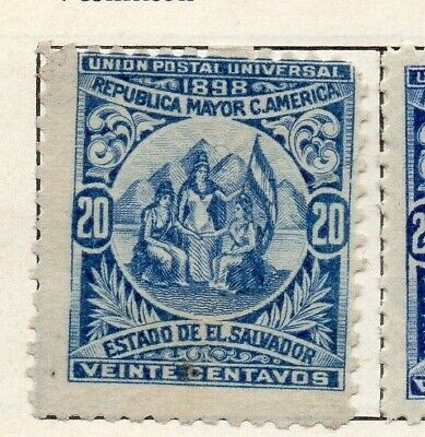 Salvador 1898 Early Issue Fine Mint Hinged 20c. 126272