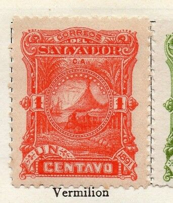 Salvador 1891 Early Issue Fine Mint Hinged 1c. 126287
