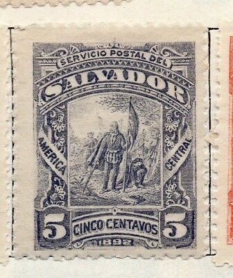 Salvador 1892 Early Issue Fine Mint Hinged 5c. 126300