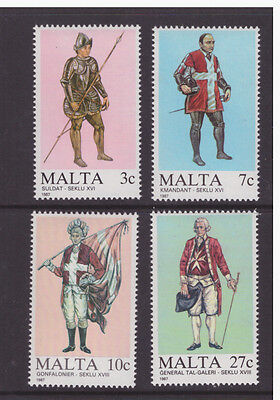 Malta 1987 Military Maltese Uniforms  set  mint MNH stamps