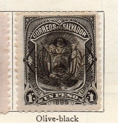 Salvador 1895 Early Issue Fine Mint Hinged 1P. Optd 126342