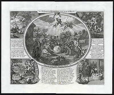 Antique Print-STOCK MARKET-SATIRE-WORLD ON WASTEPAPER-John Law-1720