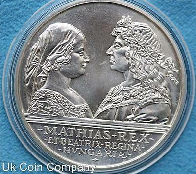 1990 Hungary Silver 500 Forint Coin King Mathias And Queen Beatrix