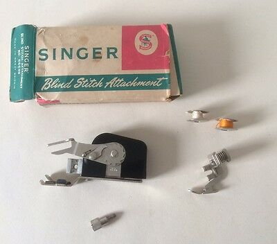 Singer Vintage Blind Stitch Attachment No. 86649 Boxed and Bobbins