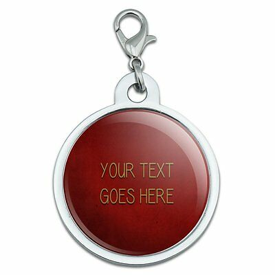 Red Textured Background Any Occasion Personalized Pet ID Tag